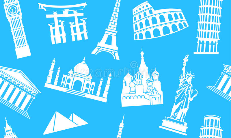 Download Background of sights stock vector. Image of british, moscow - 24273343