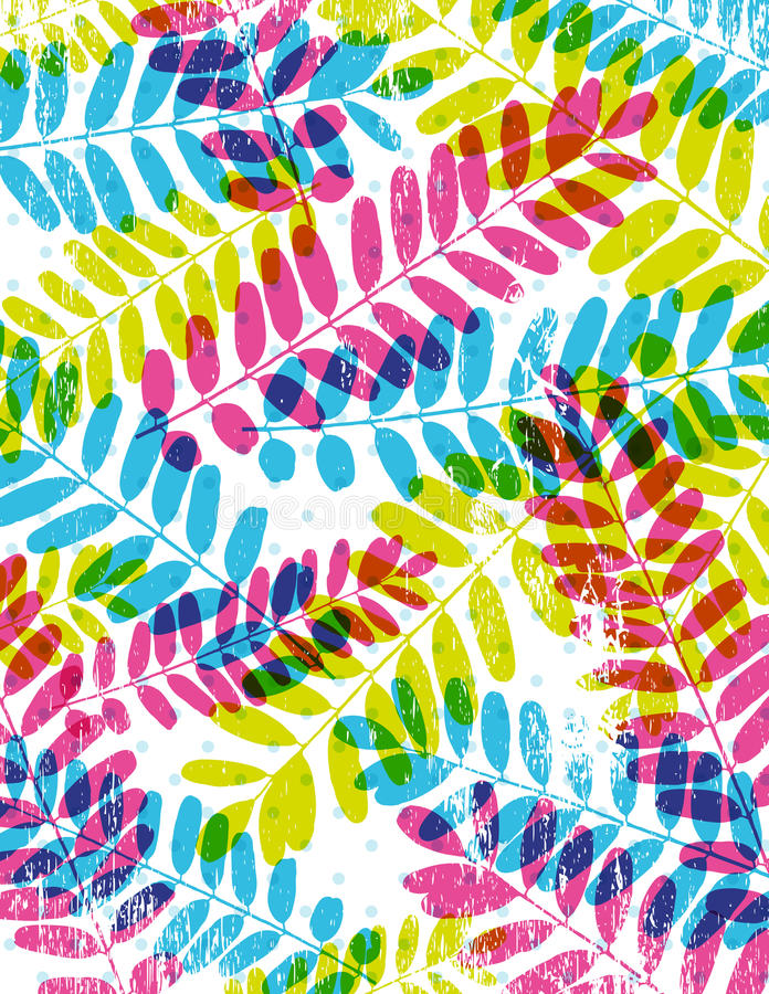 Download Background With Silhouettes Of Leafs, Vector Stock Vector - Image: 24565007