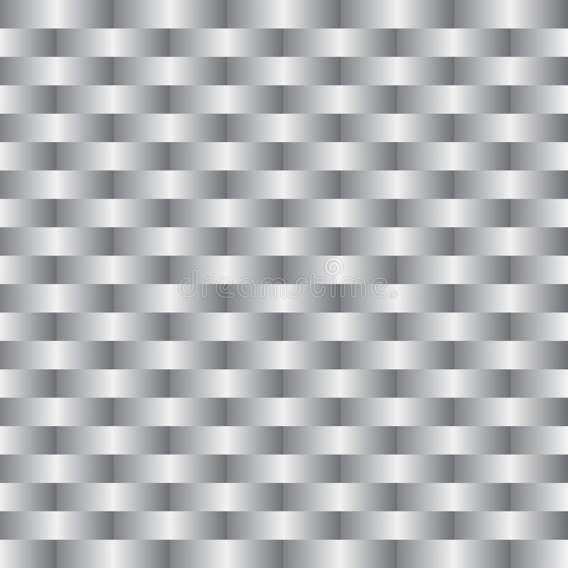 Background of a silver grey basketry royalty free illustration
