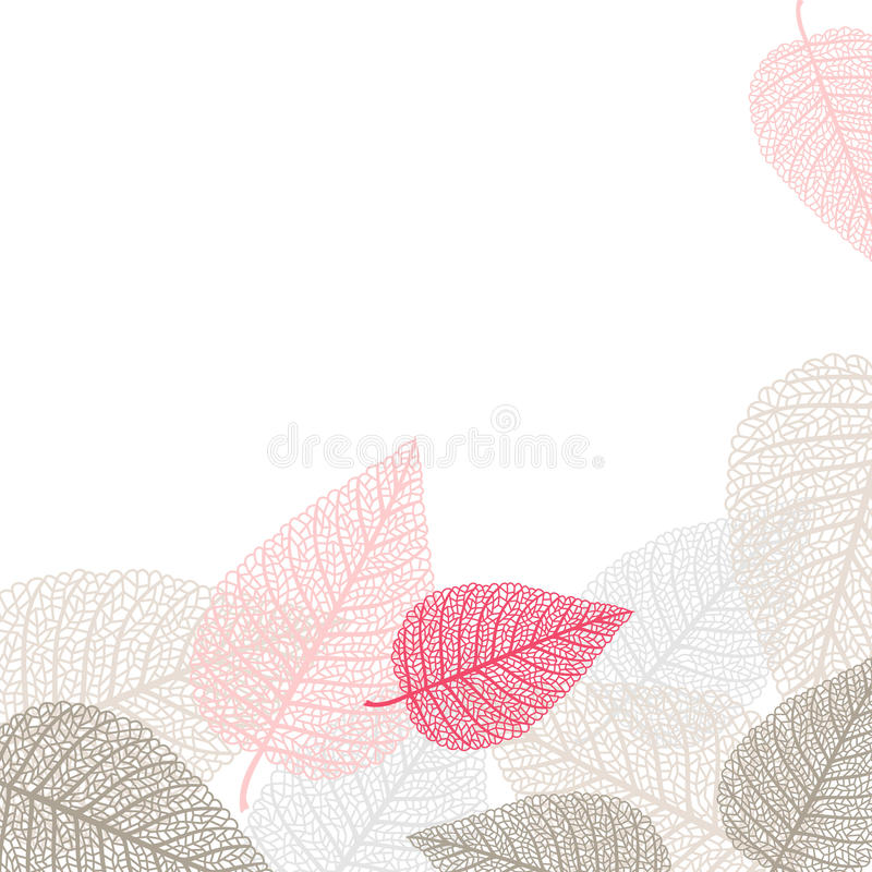 Download Background With Skeletons Of Leaves Stock Vector - Image: 34869861