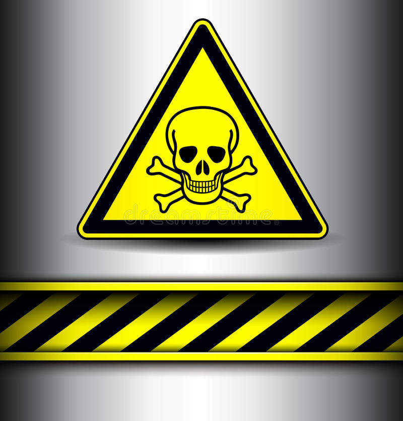 Background with skull danger sign vector illustration