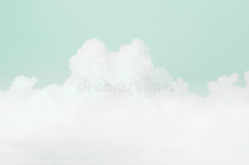Sky soft cloud, sky pastel green color soft background. Background sky green soft cloud, sky pastel green color background stock image
