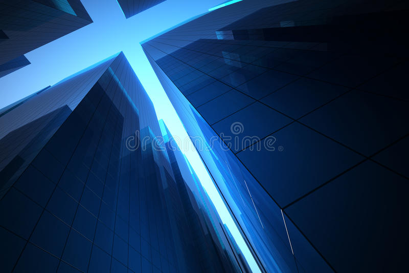 Download Background Skyscraper stock illustration. Image of downtown - 26497304