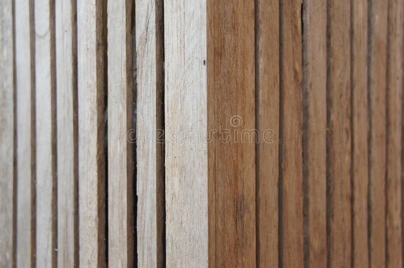 Background, slat, small pieces, vertical, beautiful. Orderly, suitable for background or wall royalty free stock photos