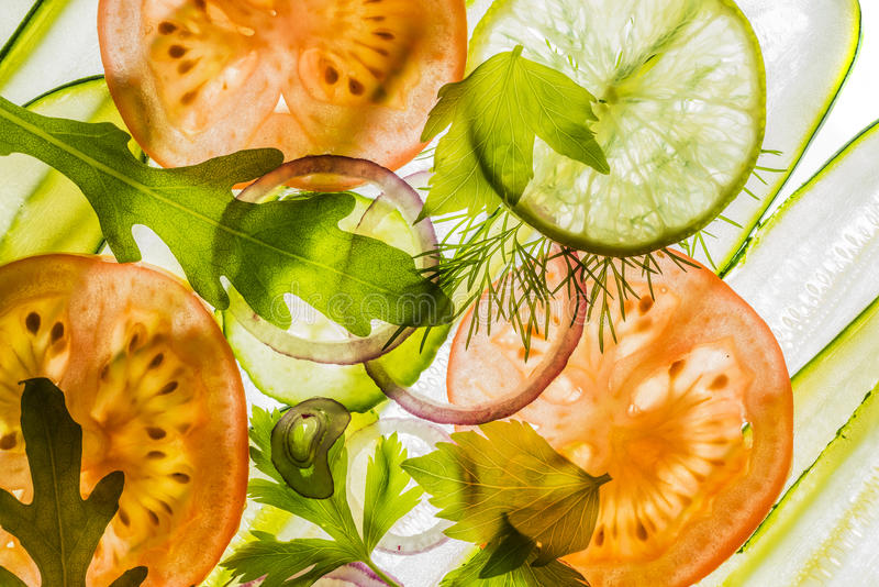 Background from sliced vegetable stock photos