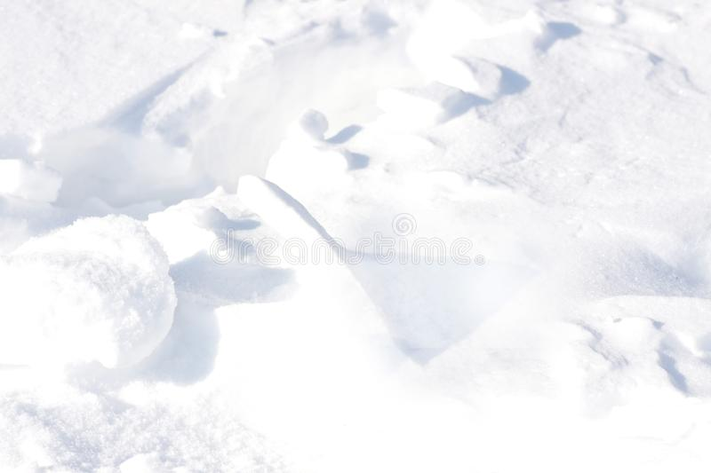 Background. Small clumps of white snow royalty free stock photos