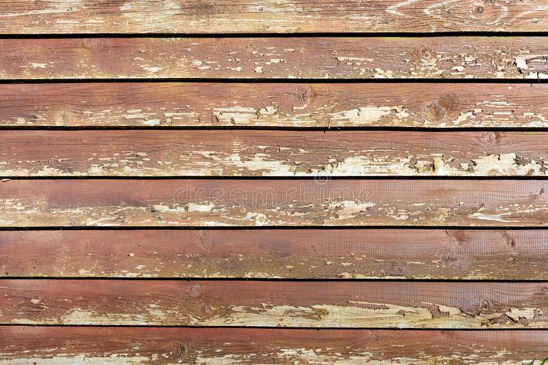 Background of smooth wooden boards. Rough texture of the old wooden surface. stock image