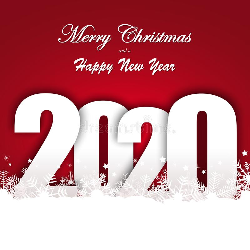 snow fall background for christmas and New Year 2020 stock illustration