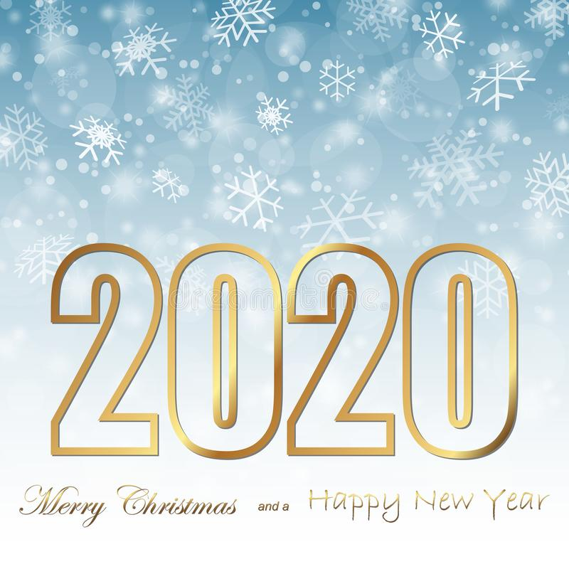 snow fall background for christmas and New Year 2020 royalty free illustration