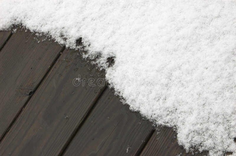 Download Background:snow On Wooden Deck Stock Photo - Image of freeze, season: 2250570