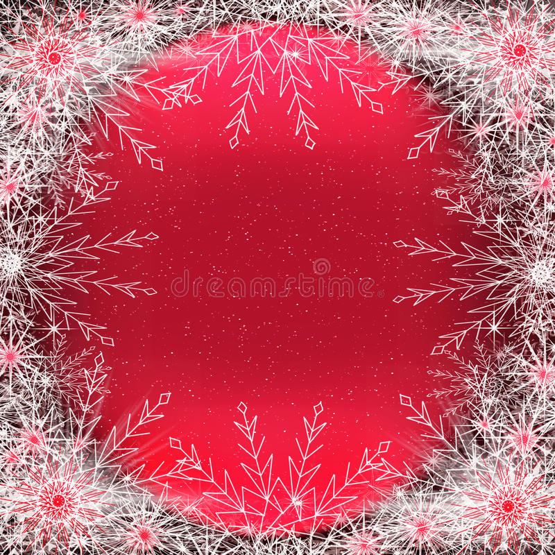 Background with snowflakes stock photography