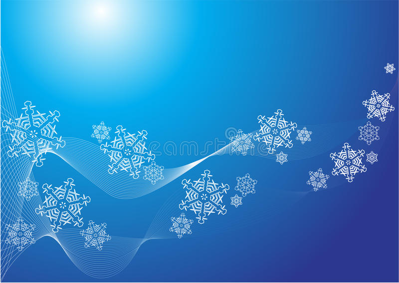 Background with snowflakes vector illustration
