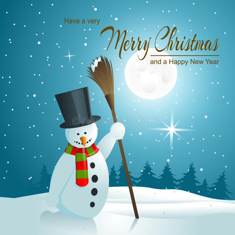Download Background with Snowman stock vector. Illustration of card - 35744656