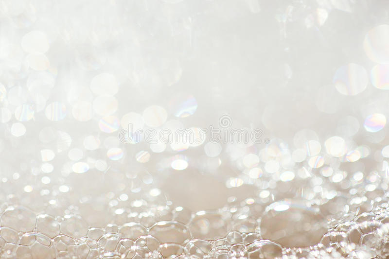 Background of soap foam. And bubbles, macro stock photography