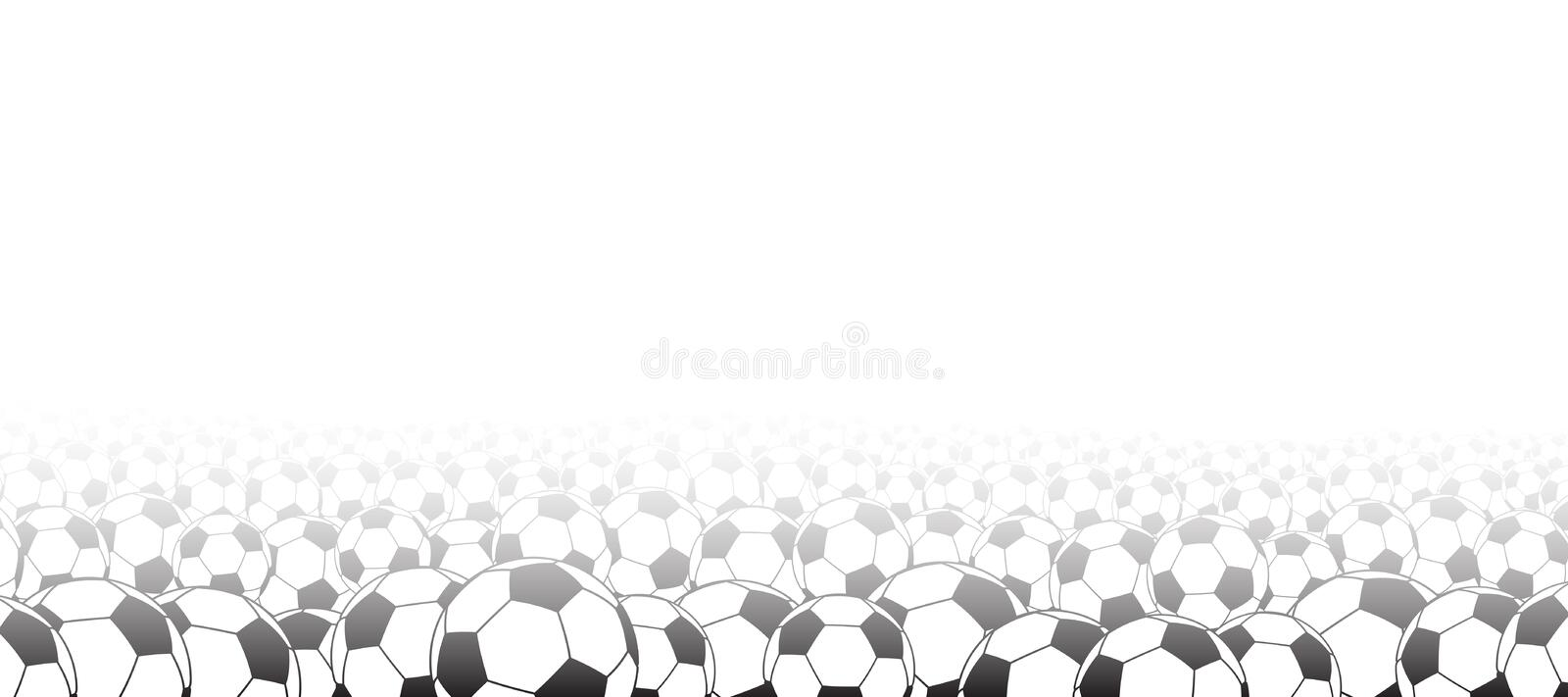 Background with soccer balls stock illustration