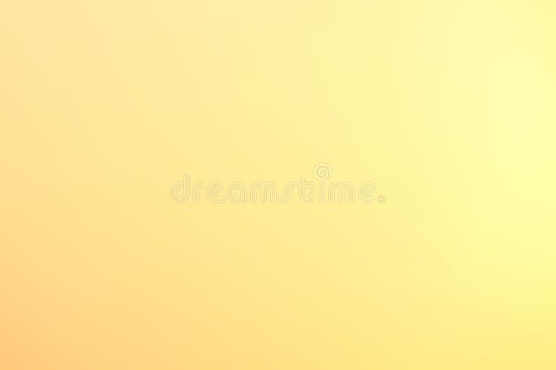 Background soft light yellow gold blurry pastel color, Yellow gold gradient graphic abstract art bright texture. The Background soft light yellow gold blurry royalty free stock photography