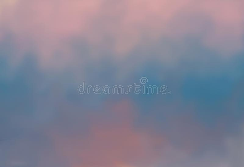 Background in soft pinks and blues. Painted background in soft pinks, and blues with no vignette stock photo