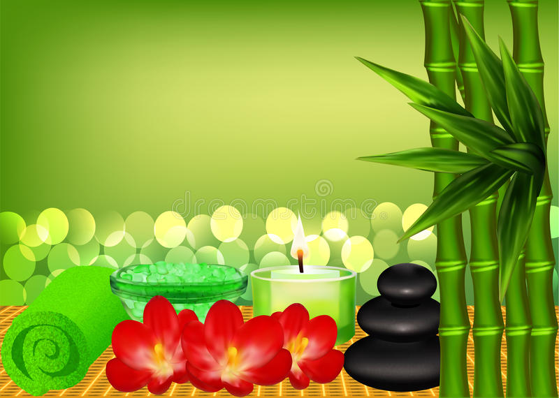 Download Background For Spa With Bamboo Stock Vector - Image: 33557625
