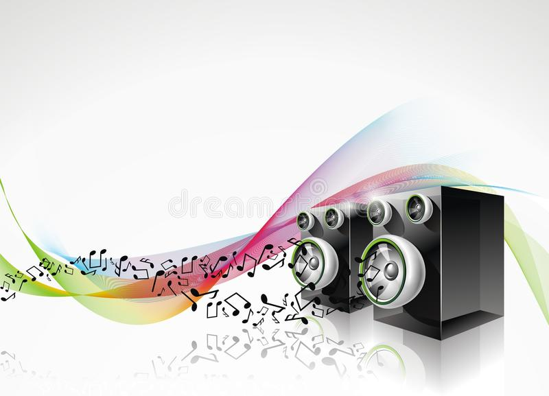 Download Background with speakers. stock vector. Image of fantasy - 18351978