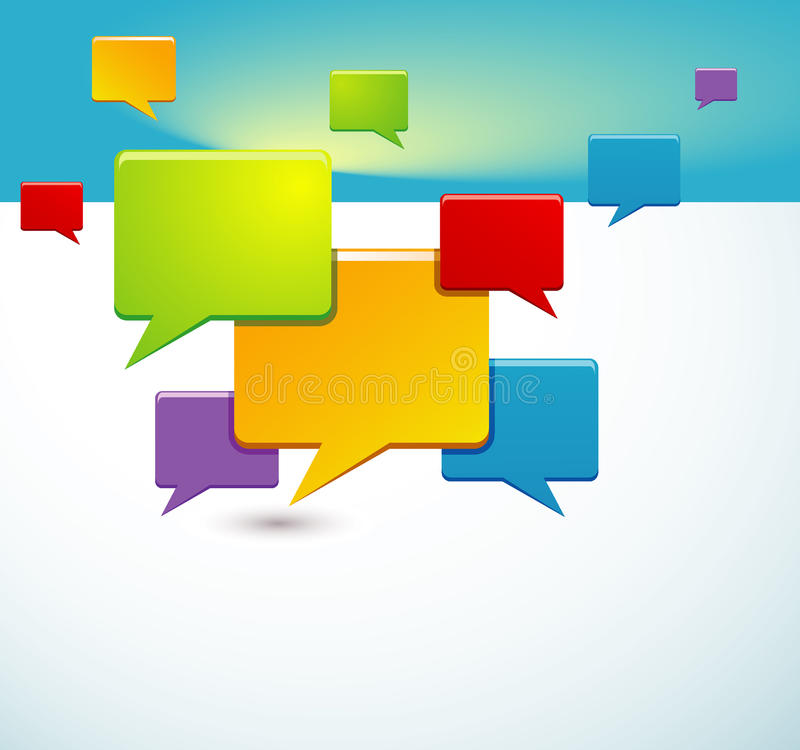 Download Background With Speech Bubbles Royalty Free Stock Photos - Image: 25504048