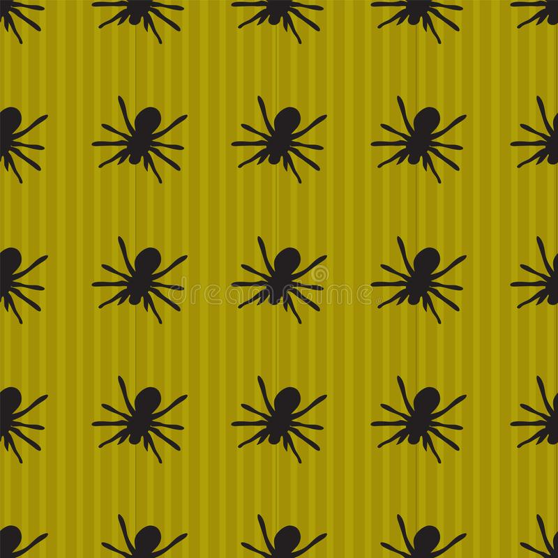 Background with spider pattern vector illustration