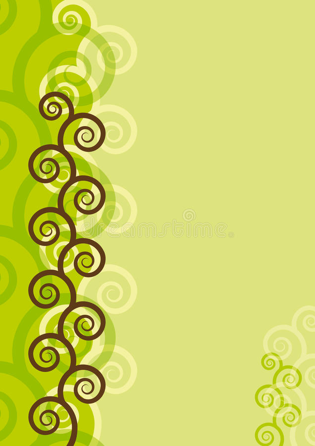 Background with spirals. Abstract background with spirals. EPS8 vector royalty free illustration
