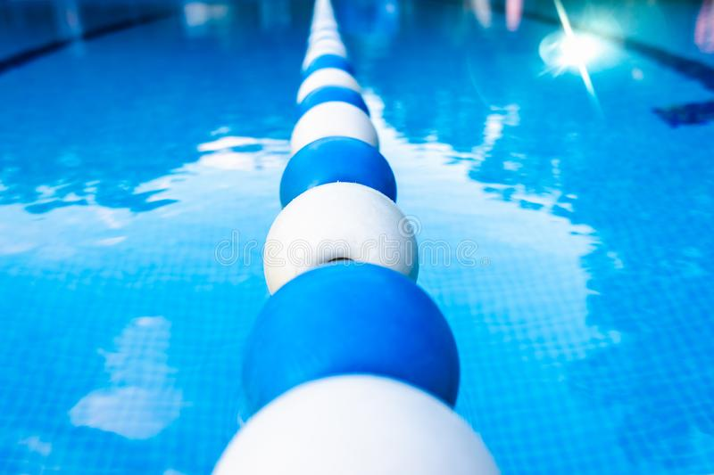 Background of a sports swimming pool, with no one.  royalty free stock photo