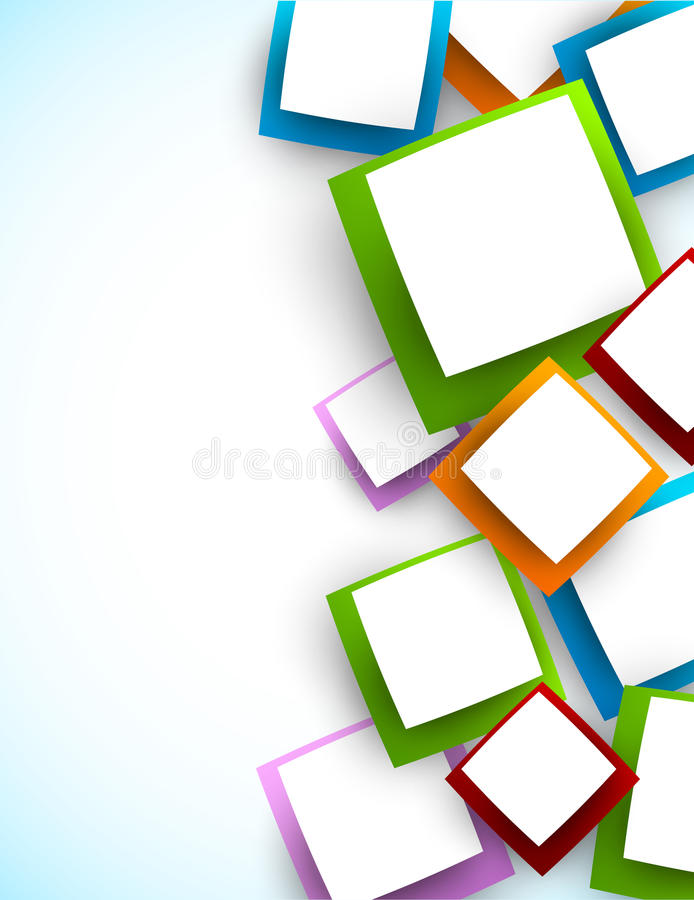 Background with squares stock illustration