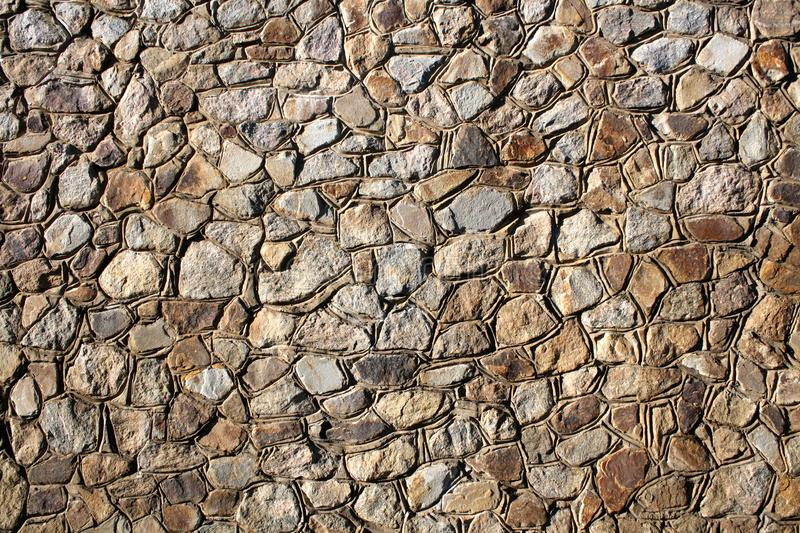 Background - Stacked Stone Wall. royalty free stock photography