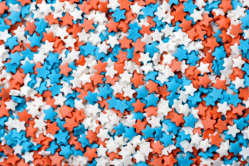 Stars confetti candy sprinkles. Background of stars confetti candy sprinkles stock images