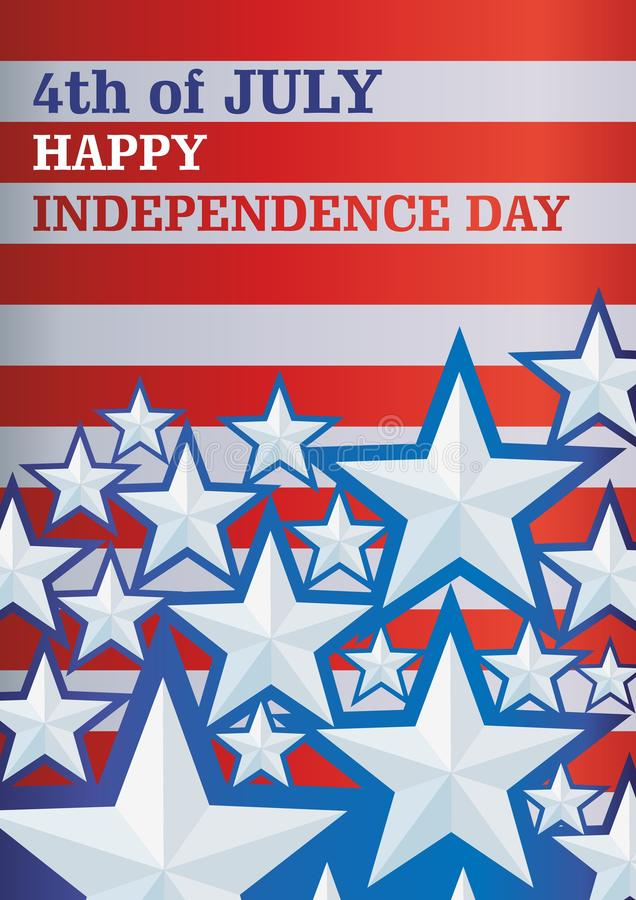 Background with stars Independence Day,  template for posters, announcements, greetings. Vector background with stars Independence Day,  template for posters royalty free illustration
