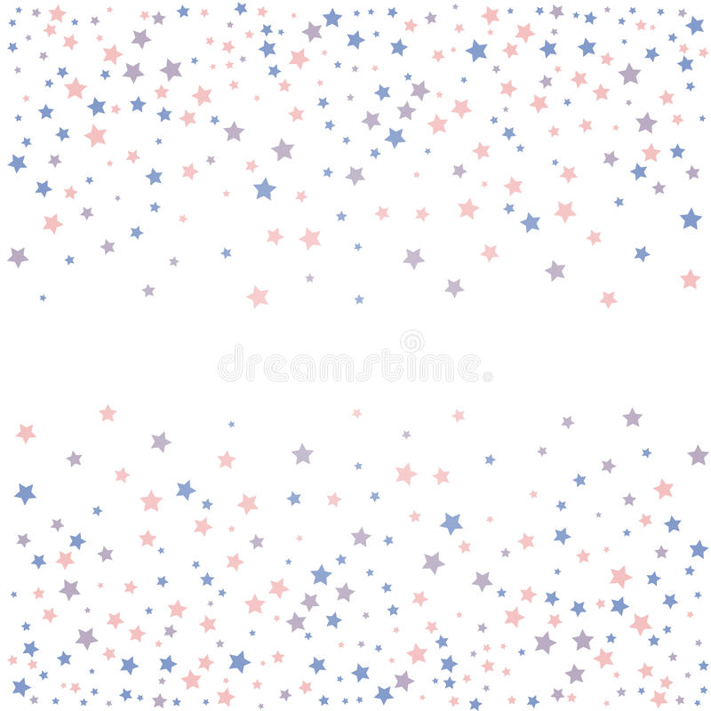 Background with stars. Rose quarts and serenity colors. Vector illustration stock illustration