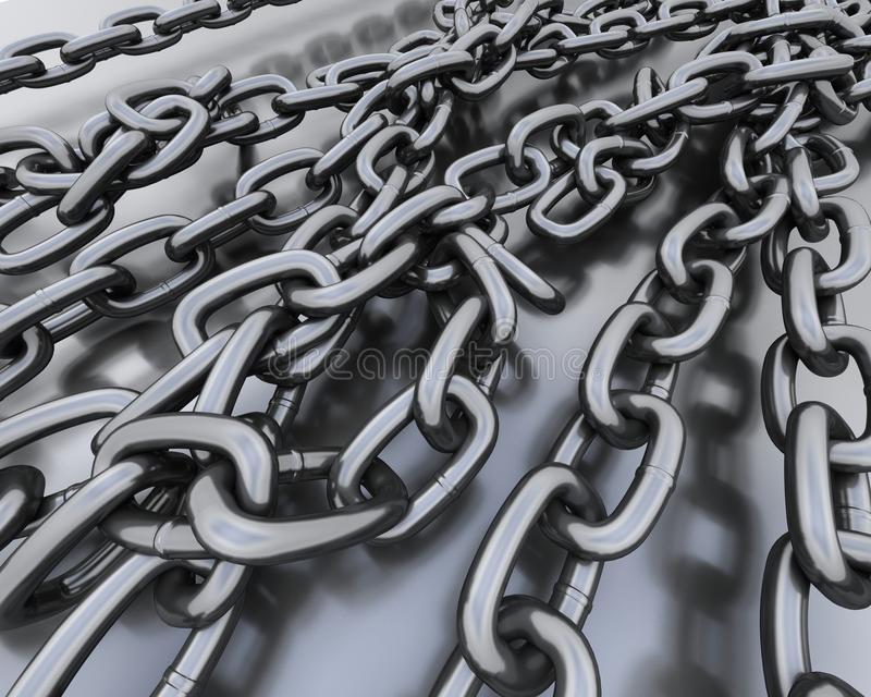 Background of steel chains stock illustration