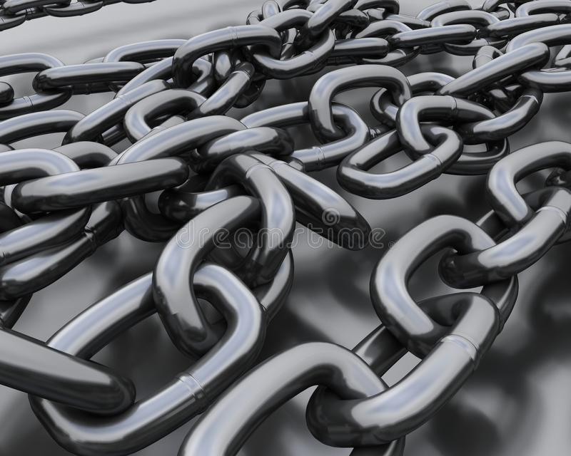 Background of steel chains vector illustration