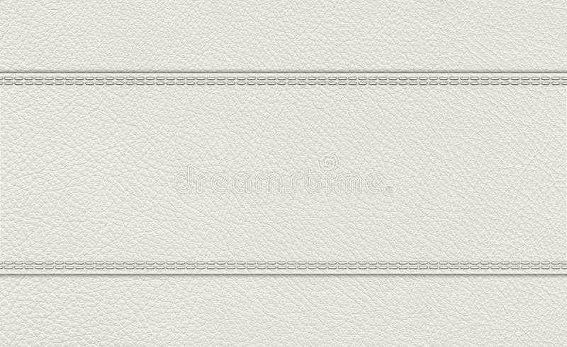 Background of stitched leather texture. Background of light gray stitched leather texture stock photos