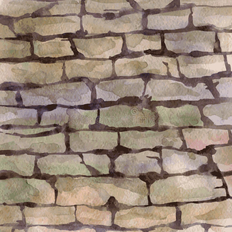 Background with stonework. Vector watercolor background with stonework, hand drawn vector illustration vector illustration