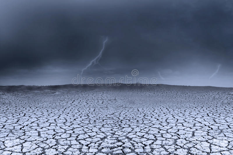 Background stormy weather and dry ground stock illustration