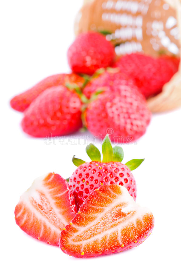 Background with strawberries royalty free stock image