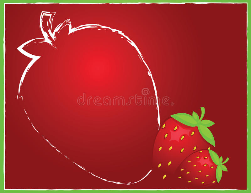 Download Background with strawberry stock vector. Image of label - 23411361