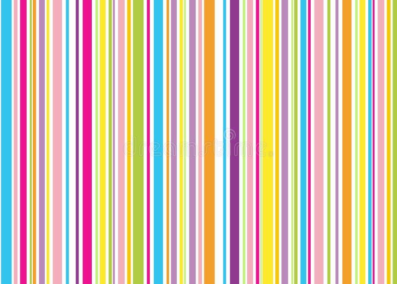 Background stripe. Blue pink yellow green violet orange stripes, background royalty free illustration