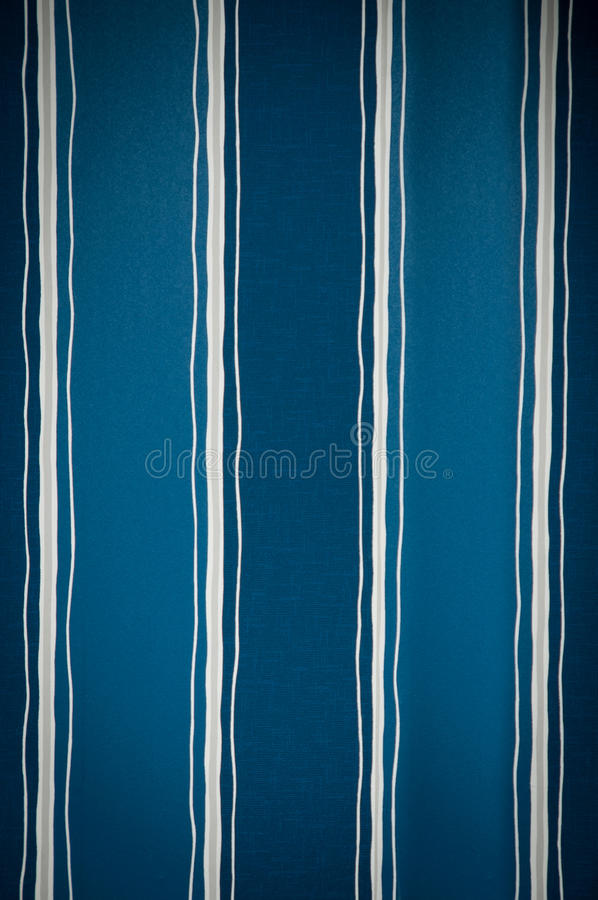 Background Of Striped Wallpaper Blue And White Stock Image