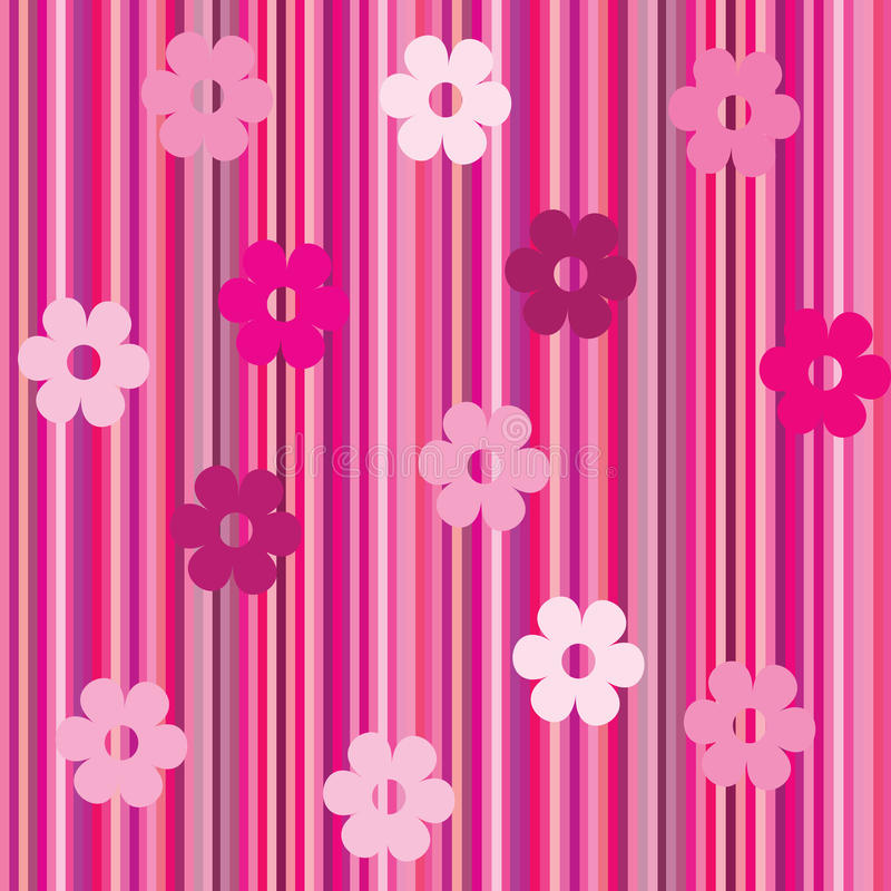 Download Background With Stripes And Flowersd-1 Stock Illustration - Image: 12784580