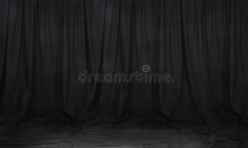 Photo backdrop background studio photography. Black classic portrait studio background stock photos