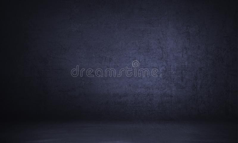 Photo backdrop background studio photography. Black classic portrait studio background royalty free stock image