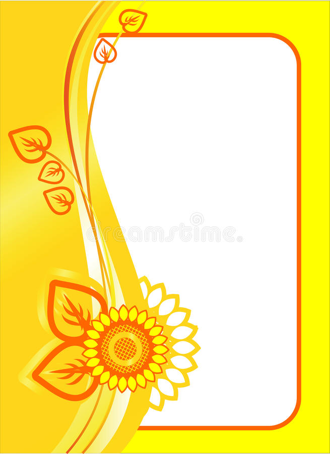 Download BACKGROUND OF SUNFLOWER stock vector. Illustration of image - 21886590