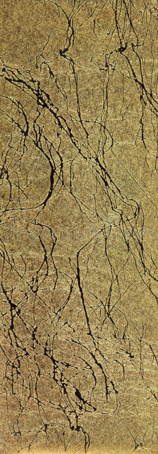 Download Cracked Golden Paper stock image. Image of papers, gold - 29878853