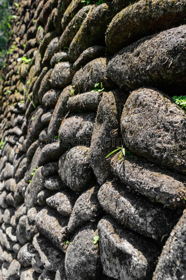 Background surface of perfectly placed stones wall stock photography