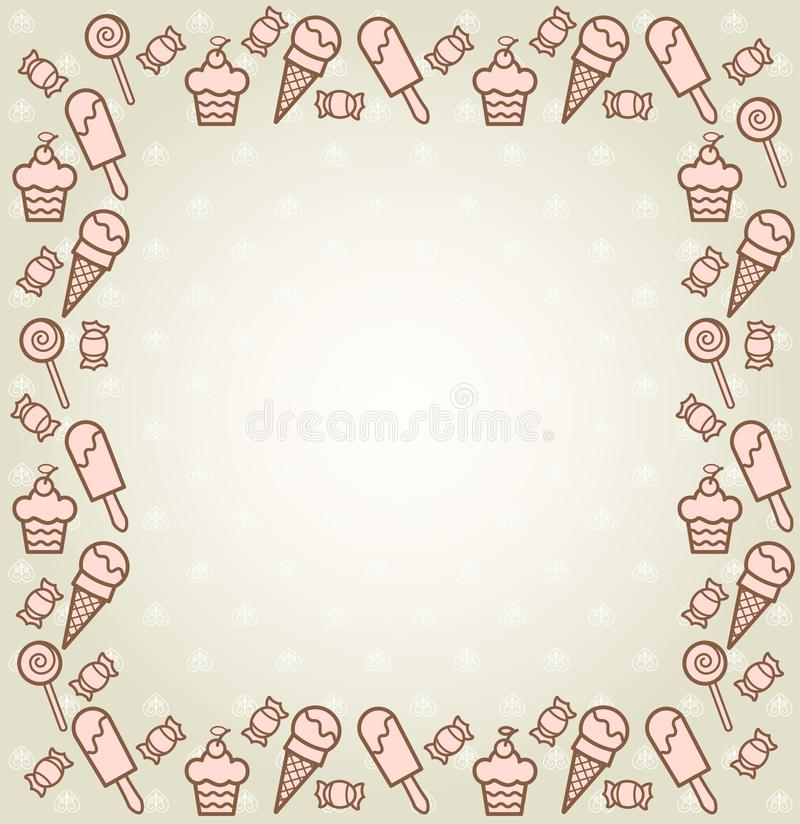 Download Background With A Sweetness Stock Vector - Illustration: 19942854