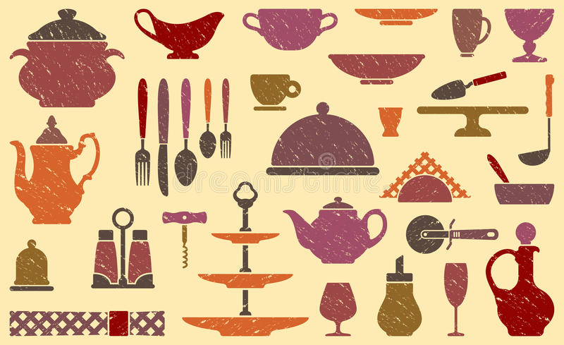 Download Background with tableware stock vector. Image of icons - 29533451
