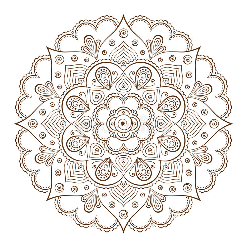 Background or tattoo frames based on traditional Asian ornaments royalty free illustration